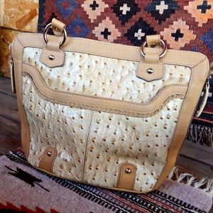 Southwestern Ostrich Purse Tan